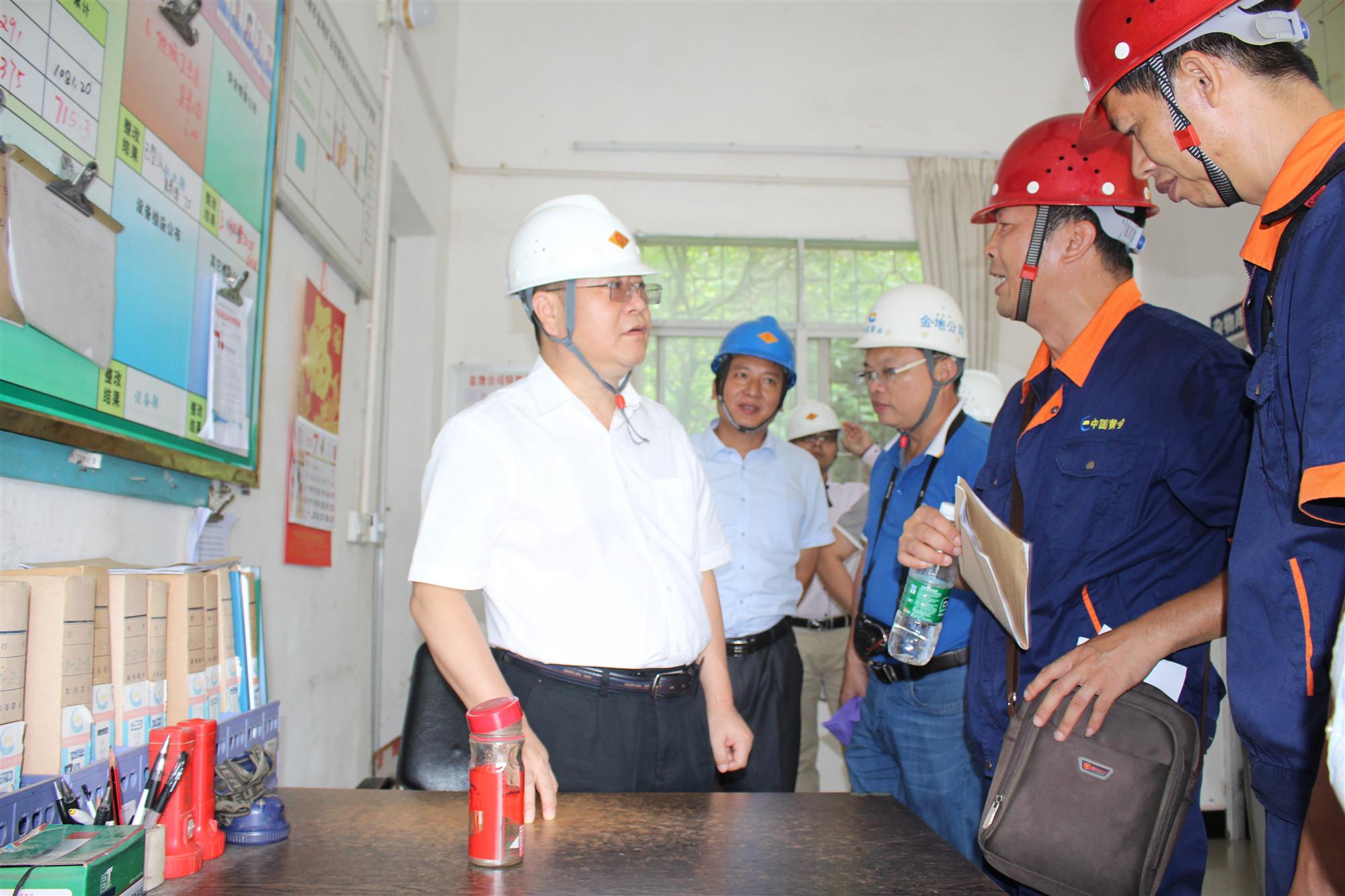 廣西公司領導劉懷禮到貴港金地礦業公司調研